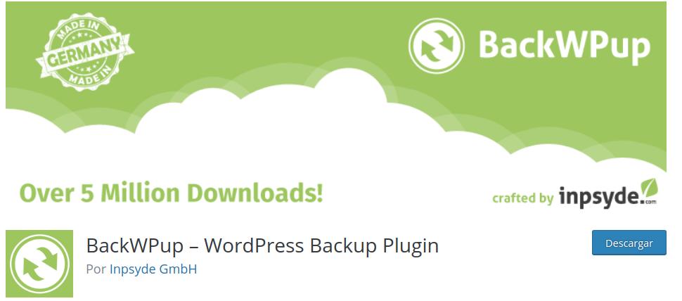 Plugin backups backWPup