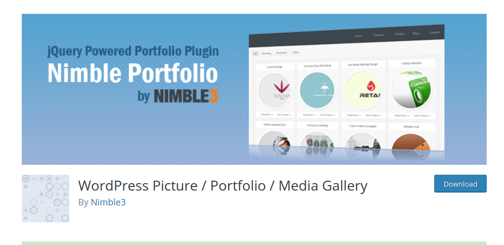 nimble portfolio wordpress
