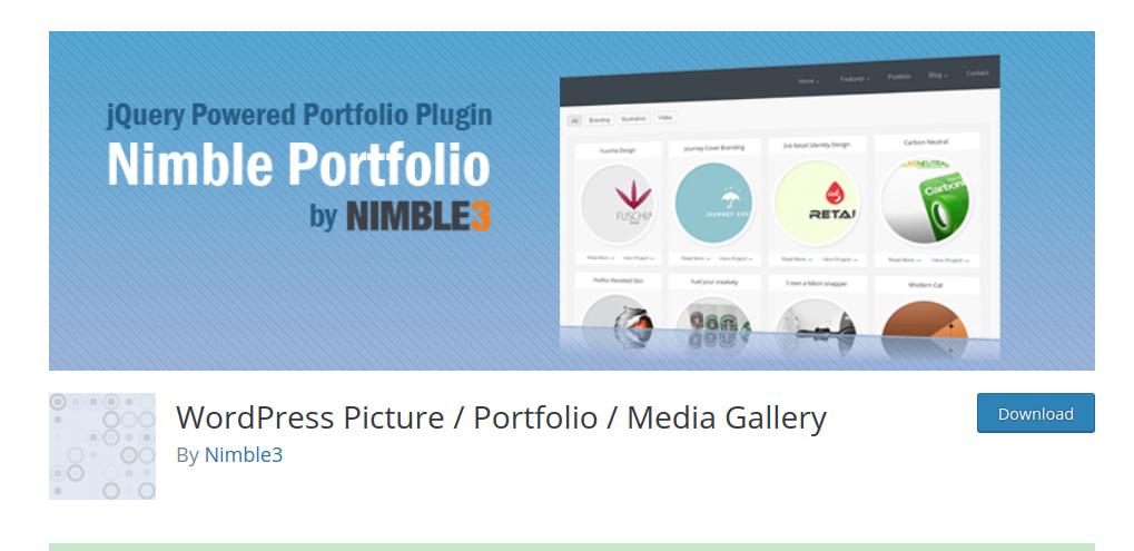 nimble portfolio wordpress
