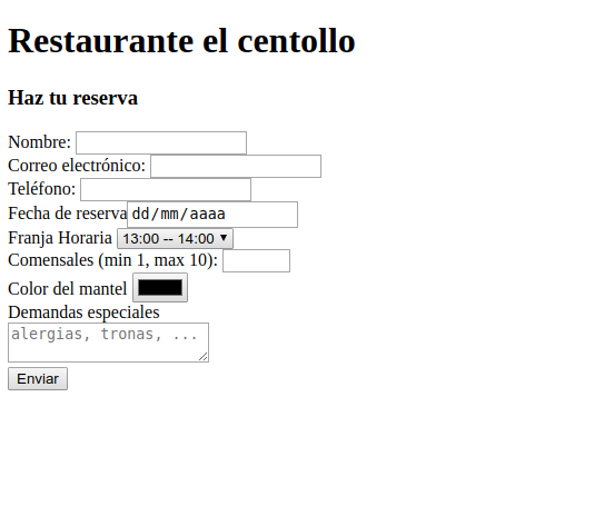 ejercicio formulario HTML5