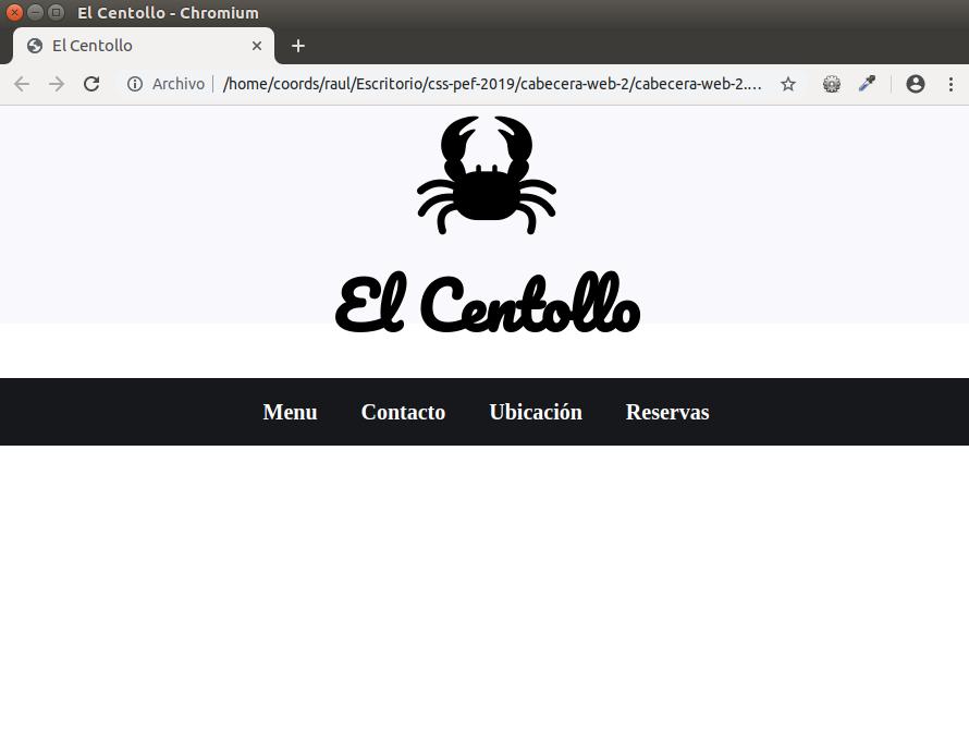 menú CSS responsive y centrado