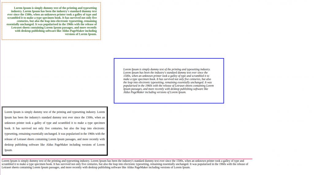 modelo cajas y textos CSS