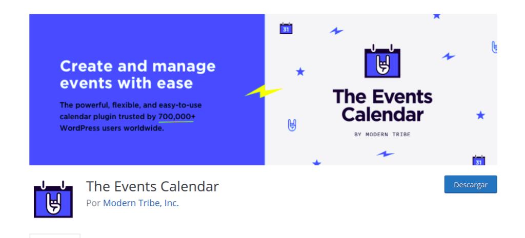 plugin The Event Calendar