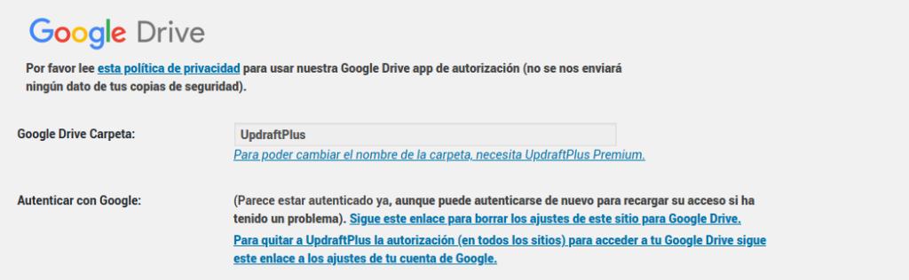 google-drive-updraftplus