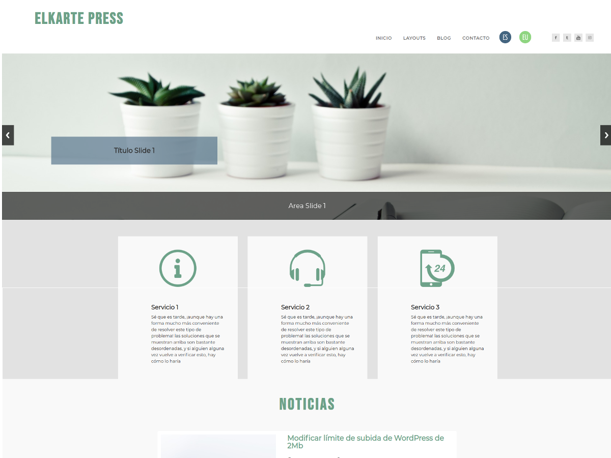 Wordpress Theme Elkartepress