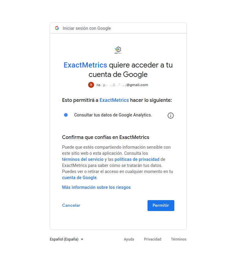permiso-acceso-exactMetrics
