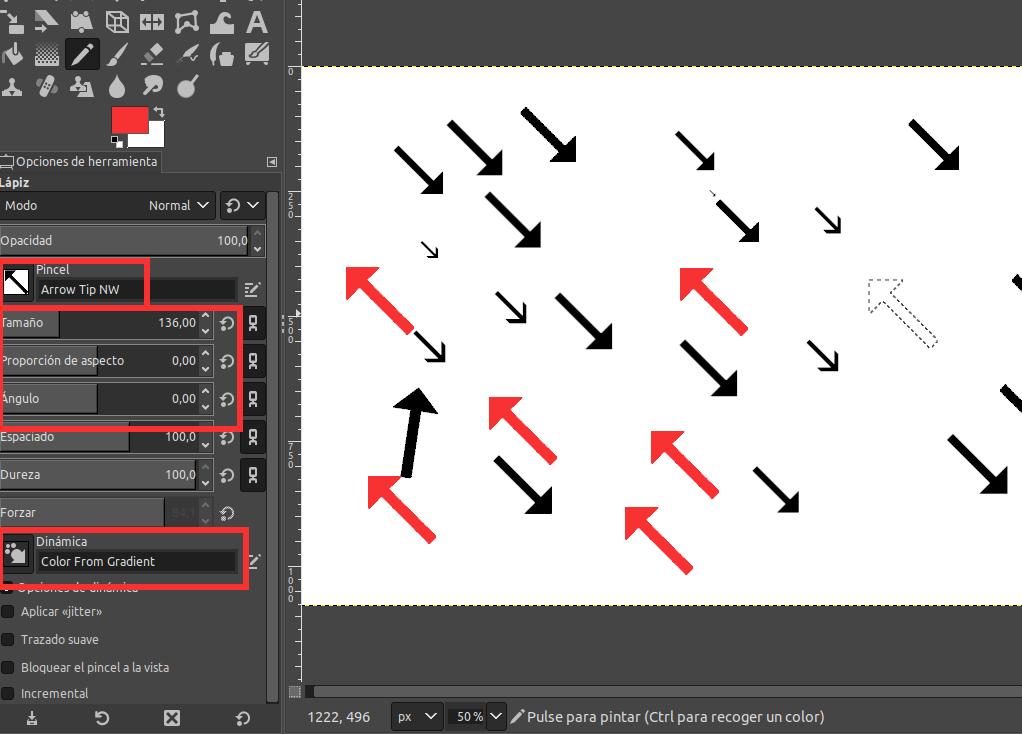 dibujar-flecha-gimp