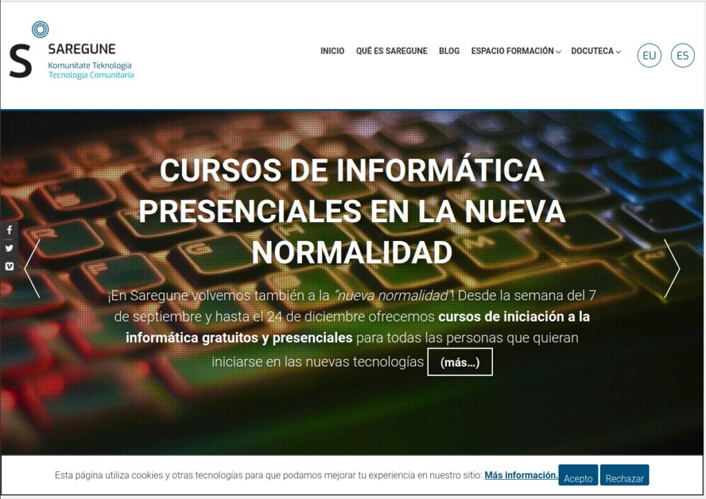 Página web de Saregune